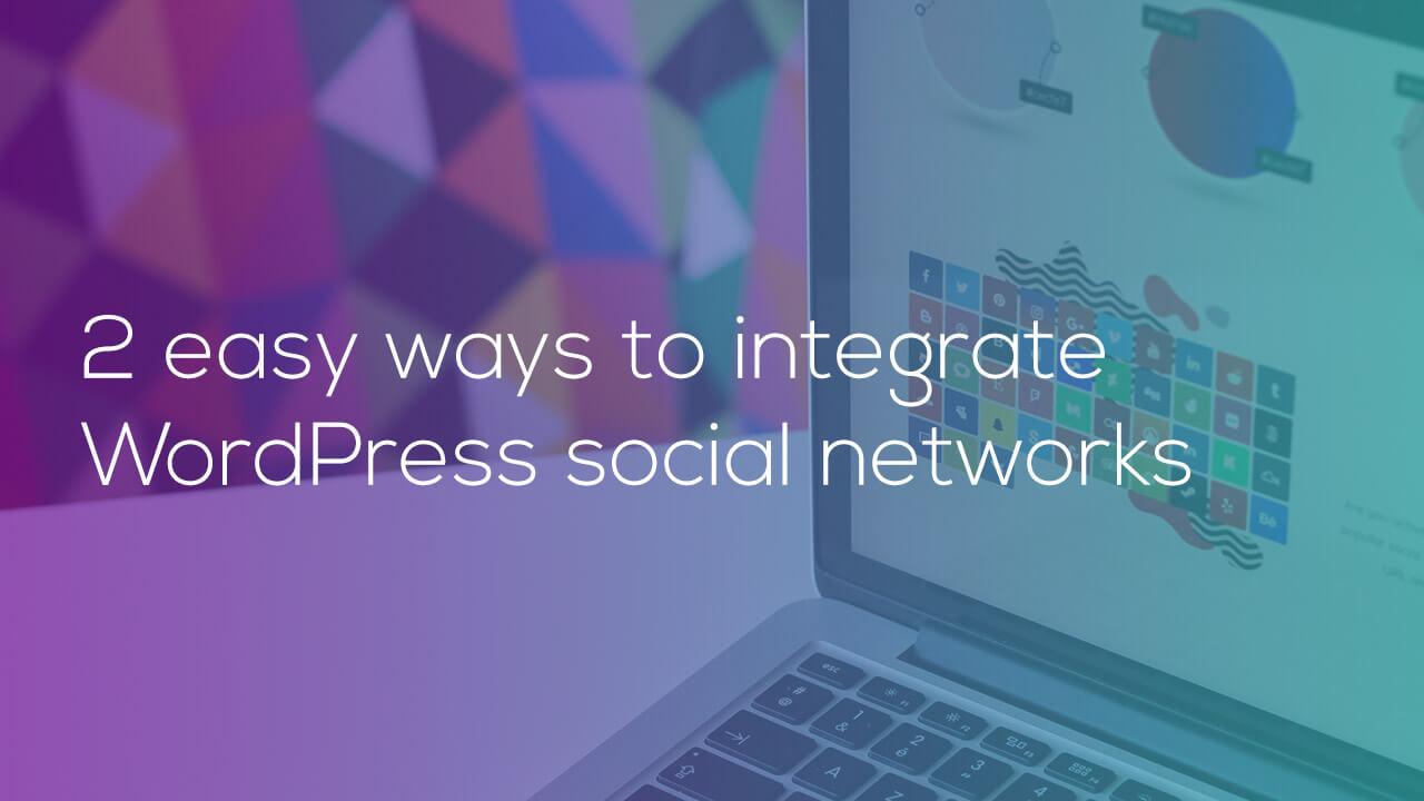 integrate wordpress social - وبلاگ
